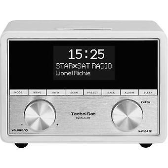 TechniSat DigitRadio 80 radio väckarklocka DAB +, FM AUX vit