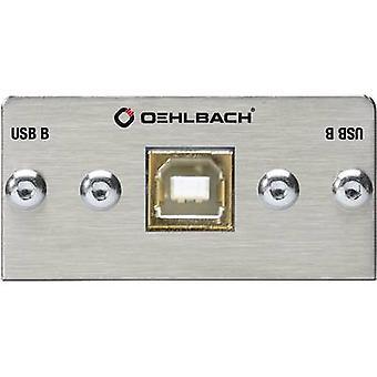 Oehlbach Pro in MMT-C USB. 2 B/b USB 2,0 multimedia inzet + gesplitst uiteinde kabel