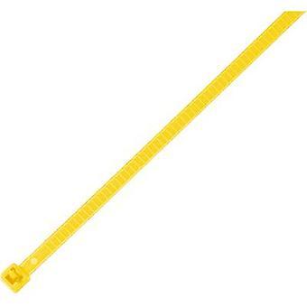 HellermannTyton 115-00004 LR55R-PA66-YE-Q1 Kabelbinder 196 mm 4,80 mm Gelb verwendbar, hitzebeständig 25 Stk.