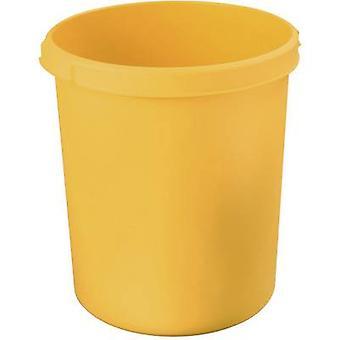 HAN 1834-15 Cesta de papel waste 30 l (Ø x H) 303 mm x 410 mm Amarelo 1 pc (s)