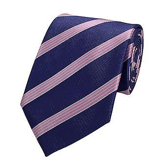 Tie tie tie tie 8cm pink magenta Fabio Farini white striped