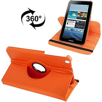 Kattaa matkapuhelin tapauksessa (flip cross) Samsung Galaxy välilehti 3 8.0 T3110 T3100 oranssi