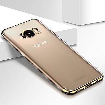 Funda de teléfono celular de oro transparente transparente Samsung Galaxy A3 2017