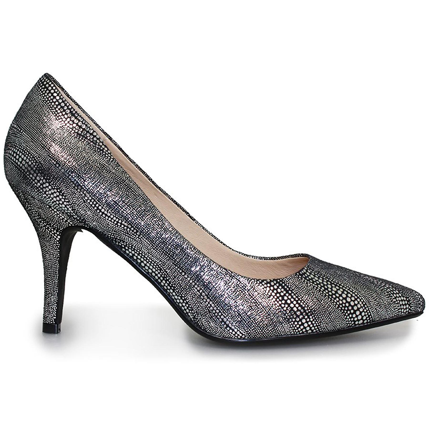 Rome Courts Ladies Snake Pointed Toe Slip On Low Heels