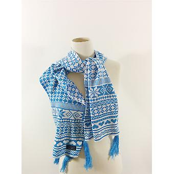 Fraas Fashion Scarf Christmas Blue White Winter Warm Unisex No Label UK