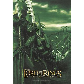 LOTR posters the two towers of green soldiers