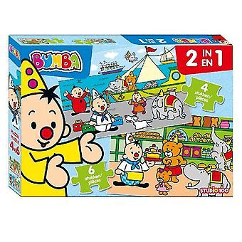 Bumba 2 en 1 Puzzle 4 et 6 morceaux de