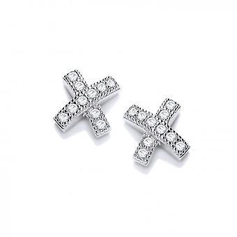 Cavendish French Cubic Zirconia Kiss Earrings
