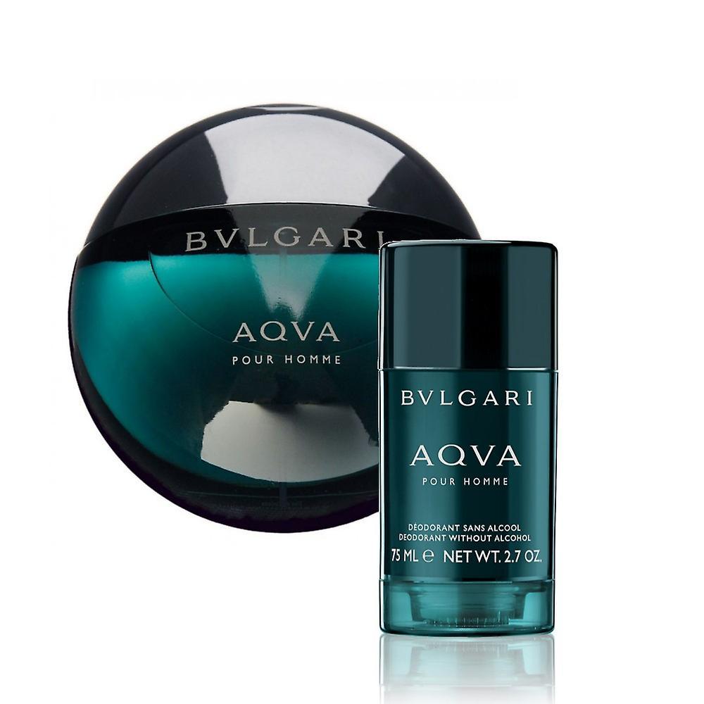 Giftset Bvlgari Aqva Pour Homme Edt 100 ml + desodorante stick 75 ml