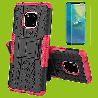 For Huawei mate 20 hybrid sag 2 stykke SWL pink + 0,26 mm 2.5 d H9 hærdet glas taske tilfælde dække ærme