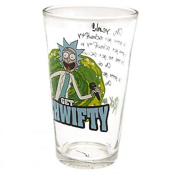Rick och Morty officiella Schwifty stort glas