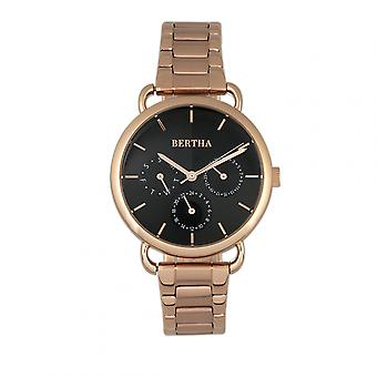 Bertha Gwen Bracelet Watch w/Day/Date - Rose Gold