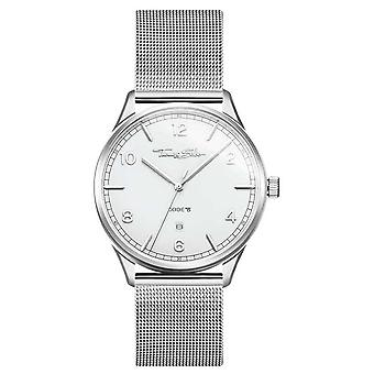 Thomas Sabo | Rostfritt stål Silver Mesh armband | Vit urtavla | WA0338-201-202-40