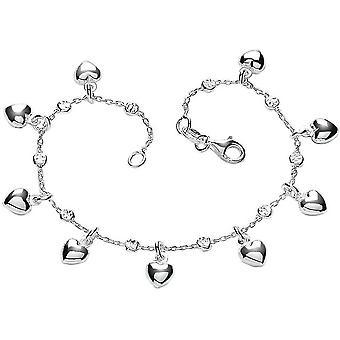 Bella Multi hart armband - zilver