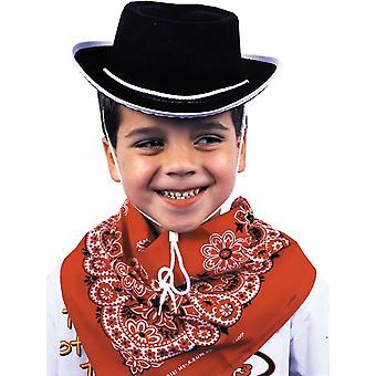 Cappello da cowboy per bambini Nero