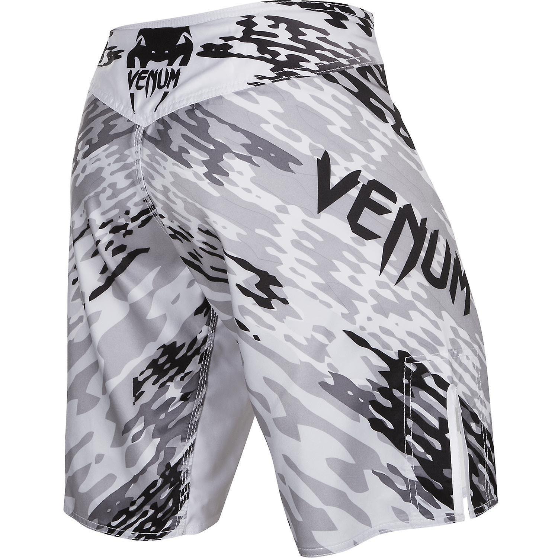 VM Mens Neo Camo MMA trening kampen Shorts - hvit/svart