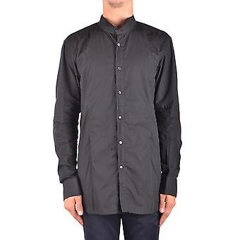 John Galliano Ezbc164003 Men's Black Cotton Shirt