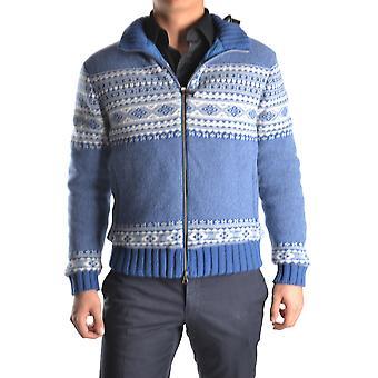 Geospirit Ezbc203006 Men's Blue Wool Sweater