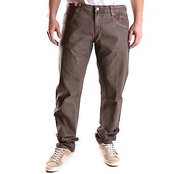 Carlo Chionna Ezbc251003 Men's Brown Denim Jeans
