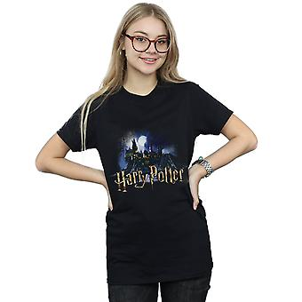Hary Potter Women's Hogwarts Castle Boyfriend Fit T-Shirt