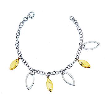 Bracelet 925 Silver And Gold Plated