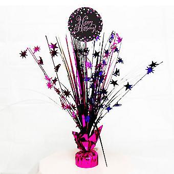 Amscan Sparkling Pink Happy Birthday Spray Centrepiece