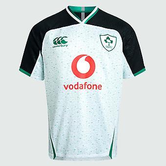 كانتربري أيرلندا IRFU الرجبي بعيدا برو قميص | أبيض / البوسفور مارل | 2019 | الكبار