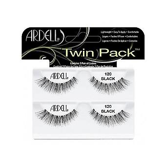 Ardell Twinpack 120 Black Easy To Apply Full False Eye Lashes