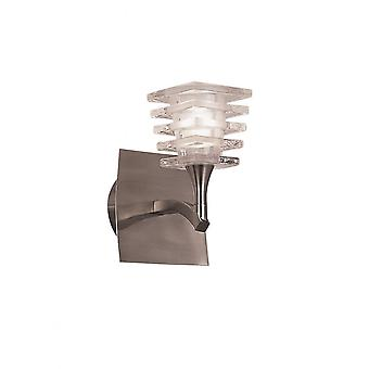 Mantra Keops Wall Lamp Switched 1 Light G9, Satin Nickel
