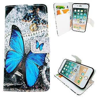 Iphone 5/5 s/s2016 Fall/Wallet Leder - Schmetterling