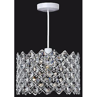 Firstlight - 1 Light Crystal Ceiling Pendant Chrome, Crystal - 8112CH