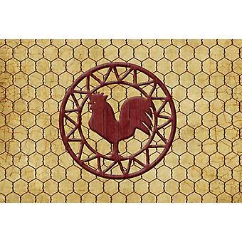 Carolines Treasures  SB3085PLMT Rooster Chicken Coop Fabric Placemat