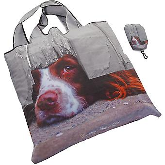 Country Matters Fold Away Pocket Shopper Shopping Bag -   I Spy Spaniel