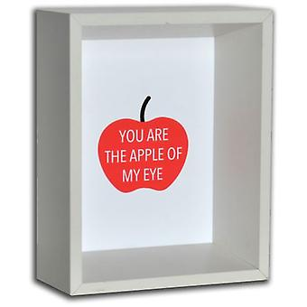 GAD White Wooden Photo Frame  You Are The Apple Of My Eye  15X20X8,5 Cm