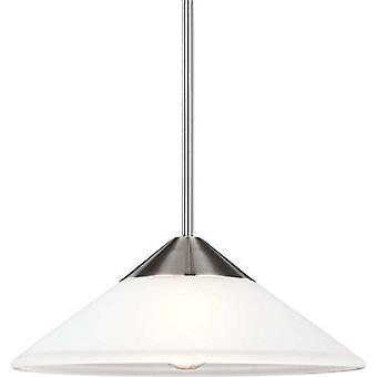 Sea Gull Lighting 6511201-962 Ashburne 1-Light Pendant Brushed Nickle
