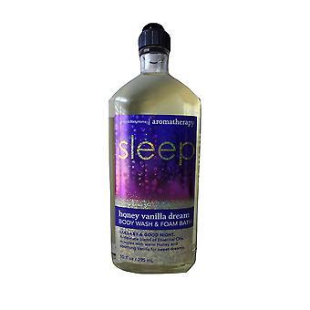 Baie & Body Works Aromatherapy Somn Vanilie Dream Body Wash & Foam Bath Lullaby & Good Night 10 fl oz / 295 ml (Pachet de 2)