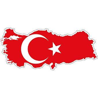 Aufkleber Aufkleber Adhesif Vinyl Auto Flagge Türkei Karte