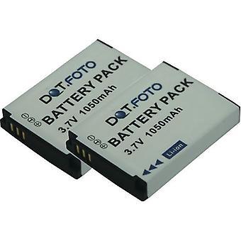 2 x bateria de substituição Dot.Foto SilverCrest FJ-SLB-10A - 3.7 v / 1050mAh