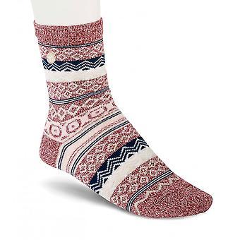Birkenstock Womens bomuld jacquard sokker 1015063 tawny port