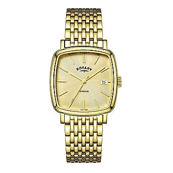 Rotary GB05308-03 Windsor Gold Tone Cushion Wristwatch