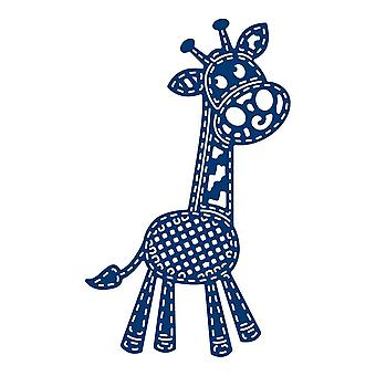 Tattered Lace Patchwork Giraffe, zilver
