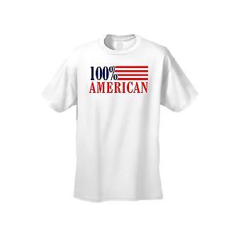 USA Flag T Shirt mænds 100% amerikansk kortærmet Tee
