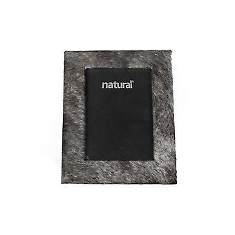 """7"""" x 9"""" Grey  Cowhide   4"""" x 6"""" Picture Frame"""