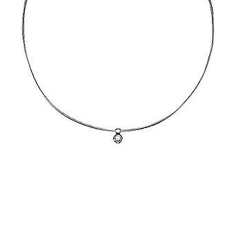 ESPRIT women's chain necklace silver tender embrace white ESNL90921A420