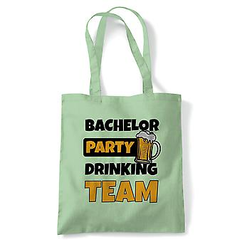 Bachelor Party Drinking Team, Tote - Stag Do Reusable Canvas Bag Gift