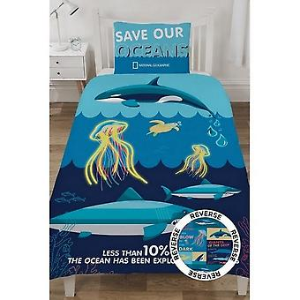 National Geographic Ocean Life Facts Reversible Duvet Set