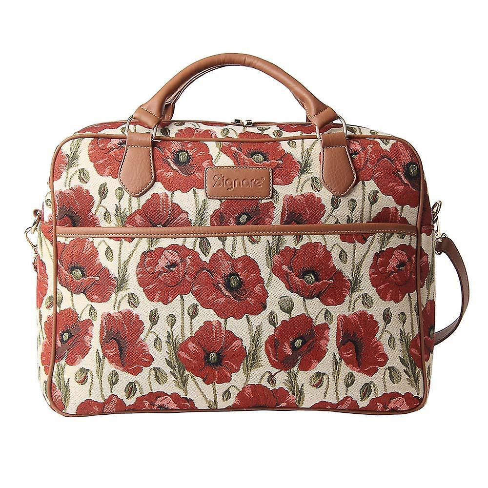 Poppy laptop bag by signare tapestry / 15.6 inch / cpu-pop