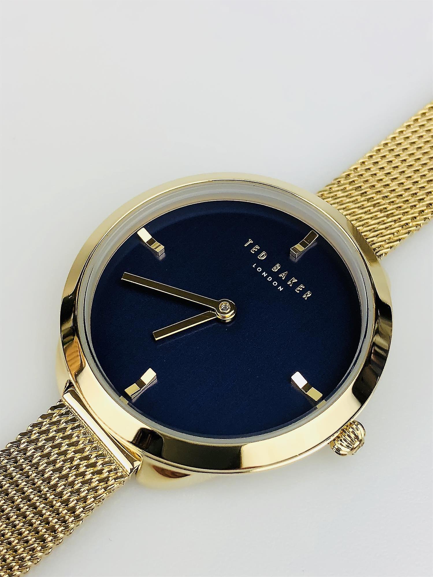Ted Baker Elana Navy Blue Face Gold Mesh Bracelet Ladies Watch TE15198018