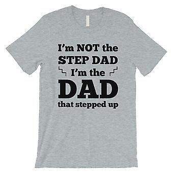 Steg pappa klev upp mens Grey Super stödjande kvick skjorta för pappor