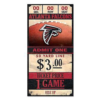 Wincraft NFL Wooden Sign TICKET Atlanta Falcons 30x15cm